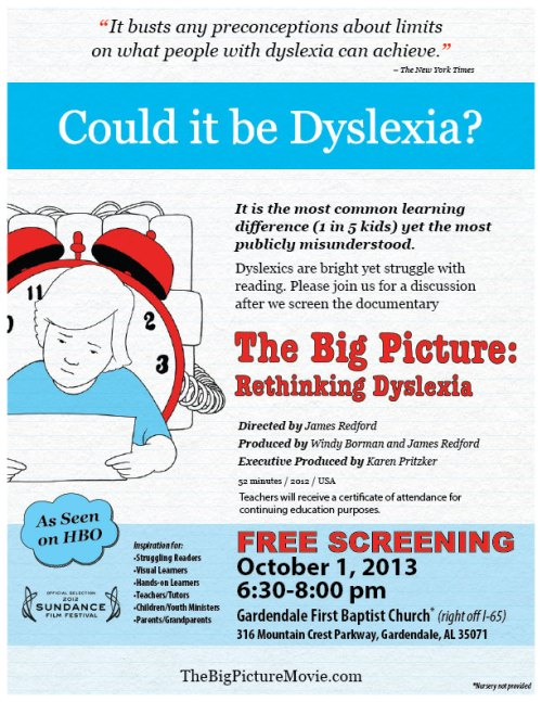 GARDENDALE - The Big Picture: Rethinking Dyslexia