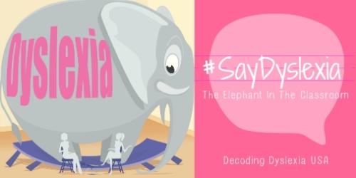 #SayDyslexia Elephant In The Classroom Twittersized
