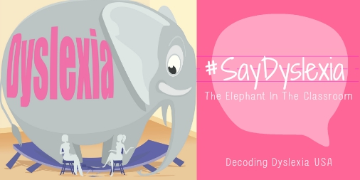 #SayDyslexia Elephant In The Classroom Twittersized